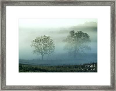 Misty Battlefield Gettysburg Framed Print