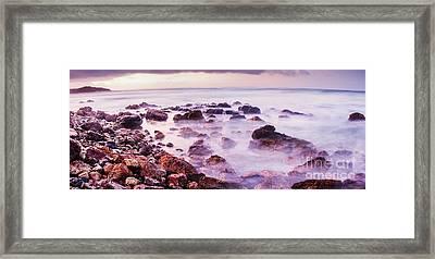 Misty Bay Framed Print
