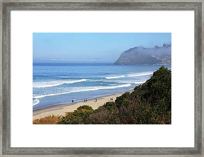 Misty Beach Morning Framed Print