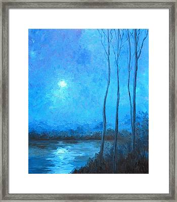 Misty Blue Framed Print by Beth Maddox