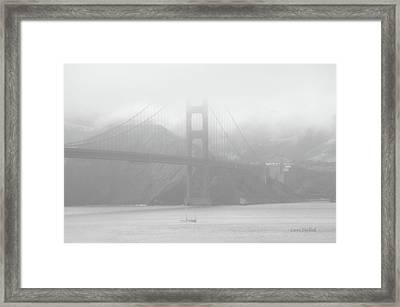 Misty Bridge Framed Print