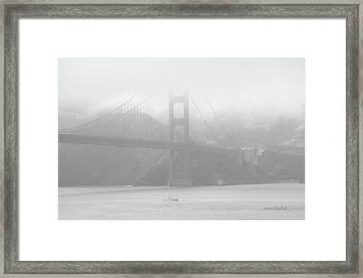Misty Bridge Framed Print by Donna Blackhall