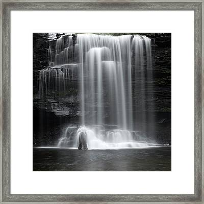 Misty Canyon Waterfall Framed Print