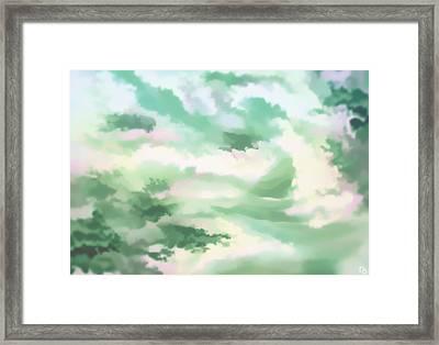 Misty Clouds Framed Print