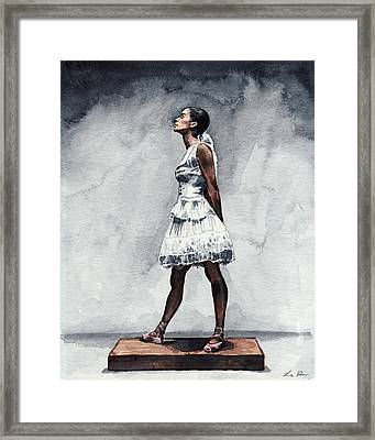 Misty Copeland Ballerina As The Little Dancer Framed Print