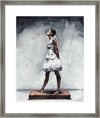 Misty Copeland Ballerina As The Little Dancer Framed Print by Laura Row