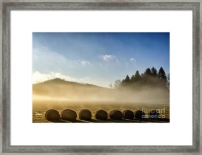 Framed Print featuring the photograph Misty Country Morning by Thomas R Fletcher