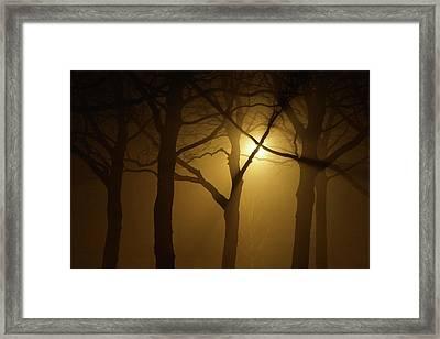 Misty Cross Framed Print by Erik Tanghe
