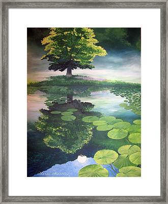 Misty Dawn Framed Print by Sharon Marcella Marston