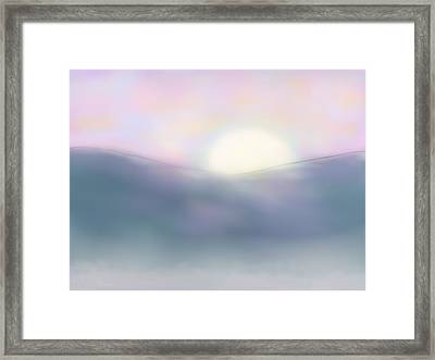 Misty Dawning Framed Print by Roxy Riou