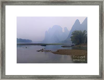 Misty Early Morning Framed Print by PuiYuen Ng