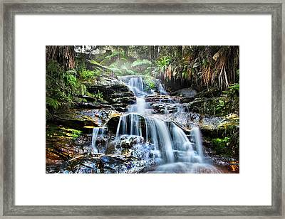 Framed Print featuring the photograph Misty Falls by Az Jackson