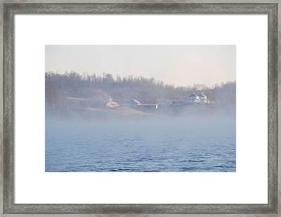 Misty Farm Framed Print by Peter  McIntosh