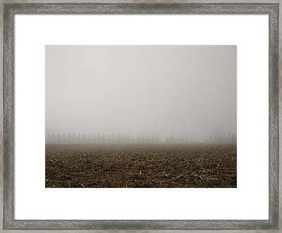 Misty Fields Framed Print