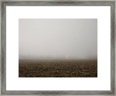 Misty Fields Framed Print by Sheryl Burns