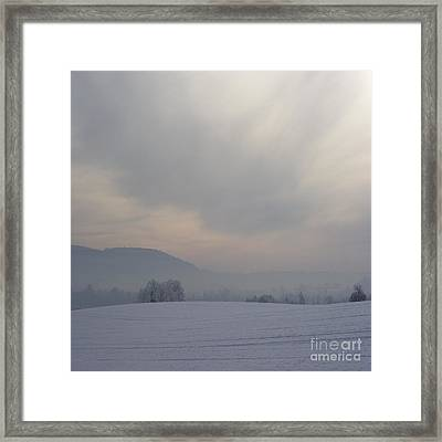 Misty Frosty Day Framed Print by Angel  Tarantella