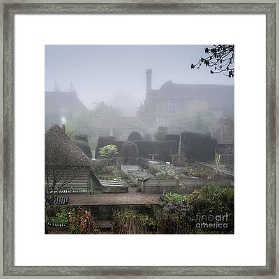 Misty Garden, Great Dixter Framed Print by Perry Rodriguez