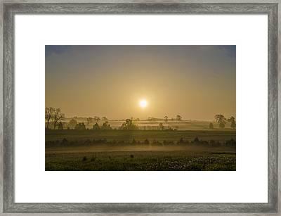 Misty Gettysburg Sunrise Framed Print by Bill Cannon