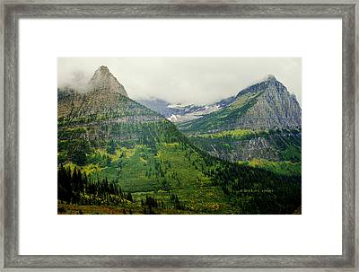 Framed Print featuring the photograph Misty Glacier National Park View by Kae Cheatham