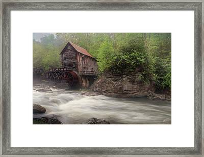Misty Glade Creek Grist Mill Framed Print