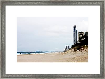 Misty Gold Coast Beach Framed Print by Susan Vineyard