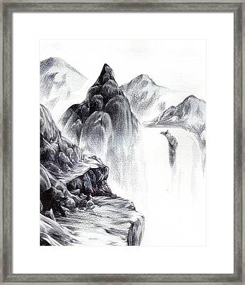 Misty Gorge Framed Print