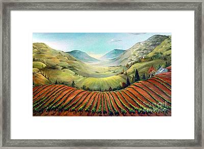 Misty Hills Framed Print