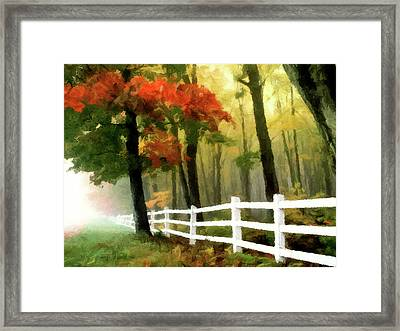 Framed Print featuring the painting Misty In The Dell P D P by David Dehner