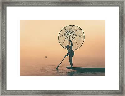 Misty Inle Framed Print