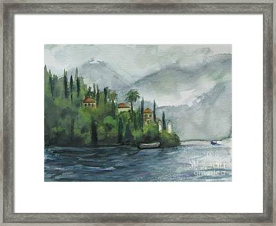 Misty Island Framed Print
