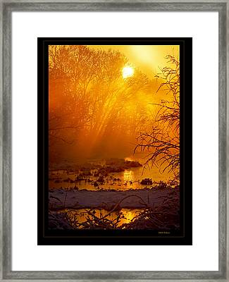 Misty Kentucky Sunrise Framed Print by Keith Bridgman