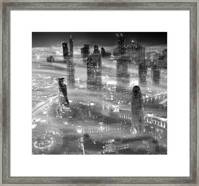 Misty Framed Print by Koji Tajima