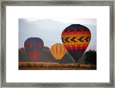 Misty Landings Framed Print