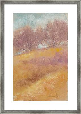 Misty Landscape II Framed Print by Tracie Thompson