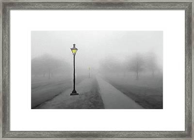 Misty Lane  Back In The Day Framed Print by David Dehner