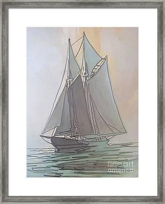 Misty Marine Art Framed Print by John Malone