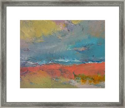 Misty Framed Print by Michael Creese