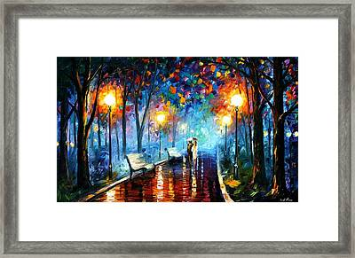 Misty Mood Framed Print