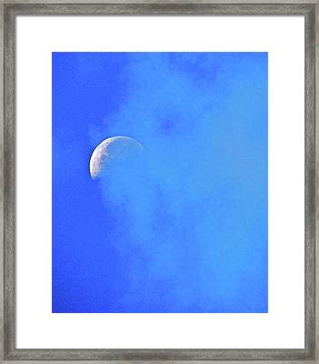 Misty Moon Framed Print