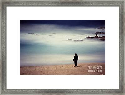 Misty Moonlight Framed Print
