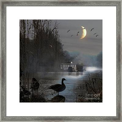 Framed Print featuring the photograph Misty Moonlight by LemonArt Photography