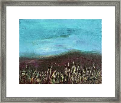 Misty Moors Framed Print by Donna Blackhall