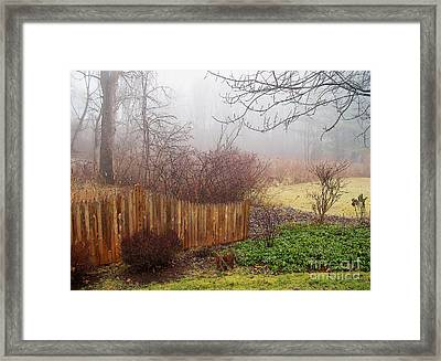 Framed Print featuring the photograph Misty Morn by Betsy Zimmerli