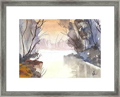 Misty Morn Framed Print by Warren Thompson