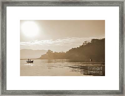 Misty Morning 2 Framed Print by Kiran Joshi