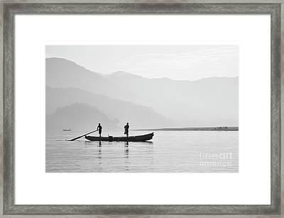 Misty Morning 3 Framed Print by Kiran Joshi