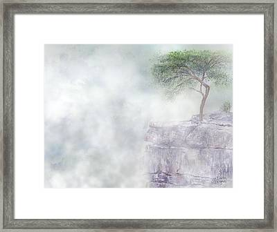Misty Morning At Buzzards Roost Tn Framed Print