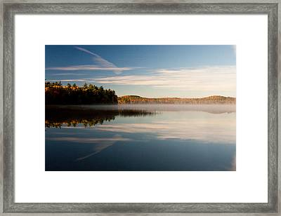 Framed Print featuring the photograph Misty Morning by Brent L Ander