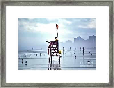 Misty Morning Crowd Framed Print