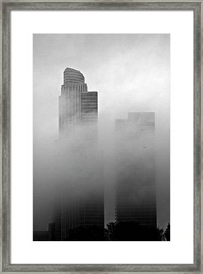 Misty Morning Flight Framed Print
